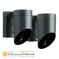 Pack de 2 cámaras de seguridad exterior compatibles con Apple HomeKit